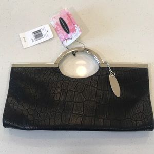Black Chinese laundry clutch